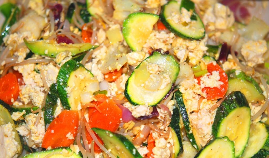 tofu-strapazzato con verdure
